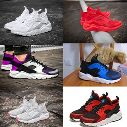 Wholesale Men Low Top Flats Shoes - Hot Sale Huaraches 4 IV Running Shoes For Men Women Top Quality Air Huarache Run Ultra Breathable Mesh Cushion Sneakers Eur 36-45