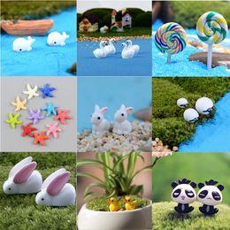 Garden Craft Plant Pots Fairy Ornament Miniature Figurine Decorazione casa delle bambole da
