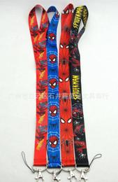 Spedizione gratuita The Avengers Key Lanyard League of spider-man tracolla mobile grossista da