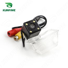 Wholesale ford escape cars - CCD Track Car Rear View Camera For Ford Escape 2013 2015 Parking Assistance Camera Track Line Night Vision LED Light Waterproof KF-V1149L