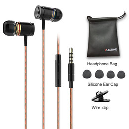 Wholesale Earphones Plug Cell Phone - PLEXTONE X53M magnet movement earphone wire control headphones metal movement headsets with wheat 3.5mm plug gold gray black