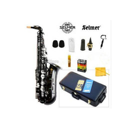 Wholesale black nickel alto saxophones - High Quality Selmer 54 Saxophone Black Alto Sax Musical Instruments Professional E-flat Sax Black Saxofone pearl black professional