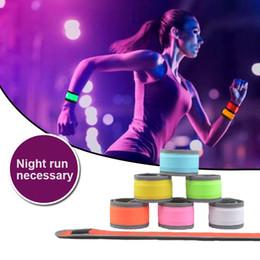Wholesale led arm light band - Hand Strap Wristband LED Reflective Light Shine Flash Glowing Luminous Armband Arm Belt Band Bracelets Wrist Support