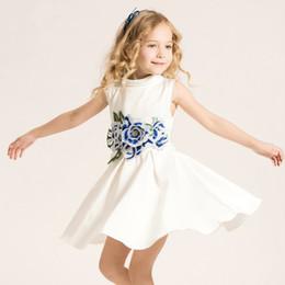 Wholesale Turtleneck Collar Kids - Polyester Regular Kids Dresses Cotton Sleeveless A-Line Solid Brief Sashes Knee-Length Turtleneck Satin 35 (%) Flower Girl Dresses