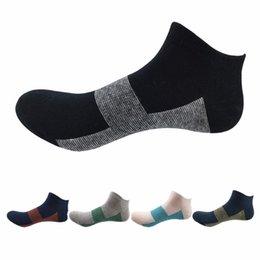 Wholesale Cotton Velour Wholesale - High Quality Brand Polo Men Socks Male Casual Colorful Striped Socks Men Short Cotton Ankle Socks For Men Low Cut Socks 5Pairs