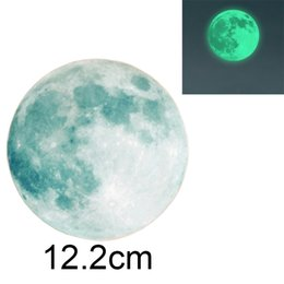 Wholesale Moon Wall Decal Bedroom - 12.2cm Moonlight Sticker Glow In The Dark Moon Wall Sticker Decal For Children Room Living Room