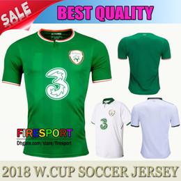 Wholesale Ireland Soccer Jersey - NEW TOP Quality 17 18 Ireland Soccer Jerseys Republic of Ireland National Team 2018 World Cup KEANE Daryl Home Green Away Football Shirts