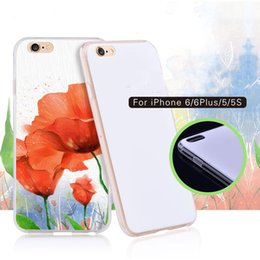 Wholesale Diy Paint Phone Case - DIY protection shell white base transparent edge Material mobile phone Blank free coating material shell pc+tpu paint cover for iphone5 6