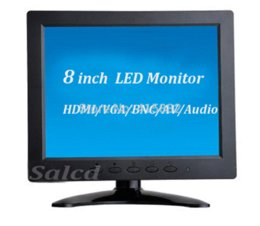 "Wholesale Bnc Vga Free Shipping - new arrival ! 8 "" led monitor with HDMI VGA AV BNC, high resolution of 1024x768 + free shipping"
