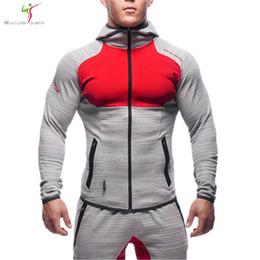Wholesale Snapback S - Wholesale- Aesthetics Revolution Snapback Clothing Hoodie Men Bodybuilding Pullover Sweatshirt Fitness Wear Bull