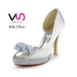 Wholesale Diamond Heels Bow - 2017 Women White wedding shoes crystals rhinestones Bow bridal wedding Peep toe shoes Diamond Shoes Party Prom High Heels shoes