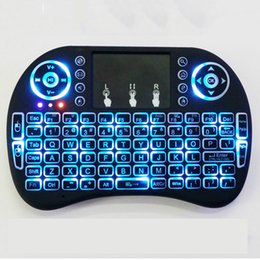 Tastiera senza fili del mini mouse i8 + i8B del mouse dell'aria di mosca con il touchpad 20pcs / lot dei controllori a distanza del mouse della lampadina Free DHL da compressa rosa nera fornitori