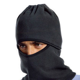 Wholesale Fly Sets - Windproof counter terrorism caps thickened caught wearing earmuffs CS Hat Balaclava face mask scarf winter wind and flying tiger Hat YYA557