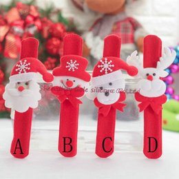 Wholesale Outdoor Deer Decoration - 10 pieces   lot Christmas jewelry watch Christmas snowman old man deer wrist decoration toy pat film Christmas decoration wholesale