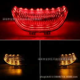 Wholesale Led Tail Lights For Motorcycles - Hot sale Motorcycle LED Tail Light Brake Turn Signals Fit For Honda CBR 600RR 2003 2004 2005 2006 03-07
