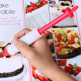 Wholesale Chocolate Decorating - Multi Function Silicone Nozzles Pens For Household Kitchen DIY Baking Tools Chocolate Cookie Cake Decorating Pen 3kn C R