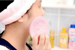 Wholesale Baby Puff Powder - Cartoon exquisite pearl face powder puff Sponge facial cleaning borla Ms and baby Special powder puff Lovely pink puff