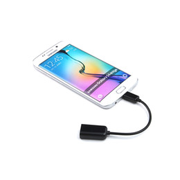 Wholesale Pc Mp4 Player - Micro USB OTG Cable Adapter Male to Female for Android Tablet PC MP3 MP4 Music Player for Smart Phone