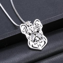 Wholesale Necklace French - Wholesale-Newest Unique Handmade FRENCH BULLDOG Pendant Necklace Dog Jewelry Pet Lovers Gift
