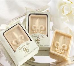 20 unids Fleur de Lys Iris jabón para el banquete de boda de cumpleaños Baby Shower Souvenirs regalo favor nuevo desde fabricantes