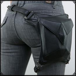 Hot retro pu delle donne borsa a tracolla in vita gamba borse punk vita confezioni vintage signore borse a tracolla Messenger Bags patchwork multifunzione da