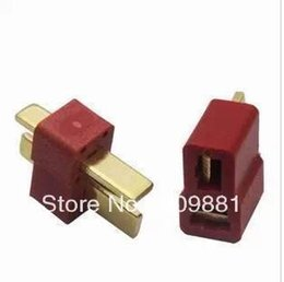 Wholesale Rc Deans Plug - Male And FemaleT Plug Connector For Deans RC Lipo Battery Helicopter Lmax B6 B6AC Charger Wholesale 10pair Free Shipping
