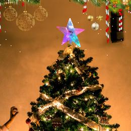 Decorazioni di Natale Centrotavola di matrimonio Treetop Star Light Display Navidad Indoor e Outdoor Decor all'ingrosso Spedizione gratuita da