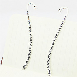 Wholesale Making Antique Bookmarks - 20pcs lot 14*86mm Vintage BookMark Charms Plated and Antique silver Hairpin Charms for Jewelry making D1061