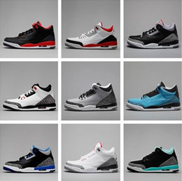 Wholesale Cheap Hot Shoes Online - Free shipping Discount Wholesale online 2016 hot sale cheap new Retro 3 3s III men shoes high quality sneakers basketball shoes size US 8-13