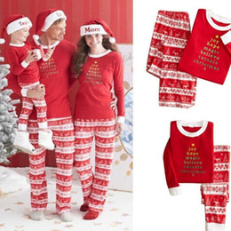 Wholesale Christmas Outfits 3t - Family Matching Clothes 2017 Winter Family Christmas Pajamas Mother Father Son Outfits Matching Clothes Family Look Clothing