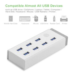 Wholesale 12v Usb Hub - Ugreen super Speed USB 3.0 Charging Hub 7 port with 12V 4A Power Adapter with BC1.2 Support USB Drive   Smartphone