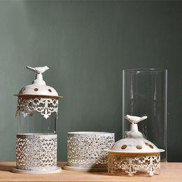 Wholesale Heart Lanterns - Personalized Wedding Centerpiece Luminaries Heart Table Decoration Lantern Wedding Candle Holders Wedding Lace Candelabras