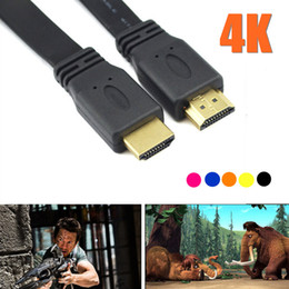 Hdmi cable ethernet 3d online-1.5M 5FT Colorido Cable HDMI macho a macho 1.4 Cable de la versión Conector de vídeo Ethernet 3D compatible con ps3 xbox HDTV