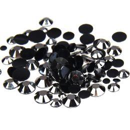 Wholesale Hematite 6mm - Hematite Resin Rhinestones 1000-10000pcs 2-6mm Round Flatback Non Hotfix Glue On Crystals And Stones Appliques For Wedding Dress