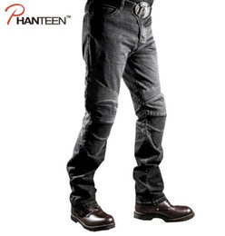 Wholesale Men S Comfortable Jeans - High Quality Man Motorcycle Jeans Riding Protective Elastic Motocross Pants Pantalon Moto Men Comfortable Trousers