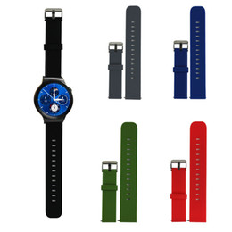 2019 силиконовые наручные браслеты оптом Wholesale-High Quality Silicone Rubber Watchband Fashion Sport Watches Band Watch Strap with Steel Buckle For Huawei Smart Watch Wristband дешево силиконовые наручные браслеты оптом