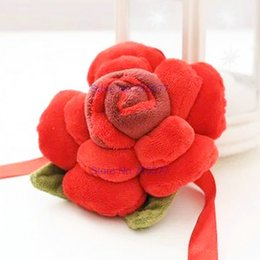 Wholesale Teddy Bears 15 Cm - 15 cm Lovely Rose curtain buckle red Flower Series Plush Toys tieback For gift at home decorate Wedding GIFT