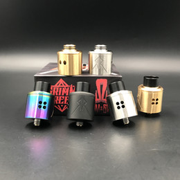 Wholesale Gold Pins Electronic - 2017 Recoil Rebel RDA Atomizer Clone Vape Tank 25mm Gold Plated 510 Pin Electronic Cigarette for Wholesale DHL FREE