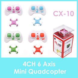 Wholesale Pink Helicopter Toy - toys and children's products Cheerson CX-10 CX10 2.4G Remote Control Toys 4CH 6Axis RC Quadcopter rc helicopter UAV Toys