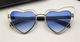 Wholesale Red Definition - New fashion ladies sun glasses round frame heart-shaped special design frame avant-garde trendy glasses high-definition lens top quality