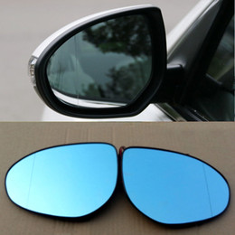 señal de giro mazda Rebajas Para Mazda 6 nuevo espejo retrovisor gran angular hiperbola azul espejo flecha LED luces de señal de giro