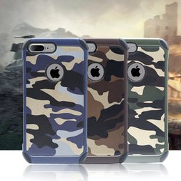 Wholesale Protection Skin - Camouflage Defender Heavy Duty Rugged Armor Cell Phone Protection Camo Case For iphone 5 5s se 6 6s plus Cover Skin Shockproof