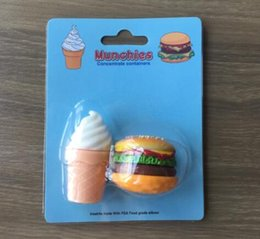 Wholesale Food Ice - solid smoke oil box | Concentrate containers | Hot new (ice cream   hamburger) pocket level silicone food container