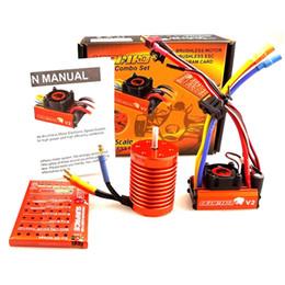 Wholesale Esc For Brushless Motor Car - SKYRC LEOPARD 60A ESC 10T 3930KV Brushless Motor w Program card for 1 10 RC Car