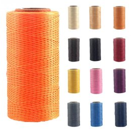 Wholesale Waxed Nylon - 10 colors 260m*1mm Wax Nylon String For Jewelry Making Beading Bracelet Wire Fishing Thread Rope