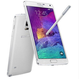 Wholesale Quad Core Cellphones - Original Samsung Galaxy Note 4 N9100 Android 4.4 5.7 Inch 3GB RAM 16GB ROM 4G FDD-LTE 16.0MP factory unlocked Mobile Phone