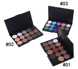 Wholesale Professional Makeup Foundation Palette - 15 Color Nake Shimmer Eyeshadow Makeup Palette Set Professional Eye Shadow Foundation Nude Makeup Smoky Pearl Eyeshadow