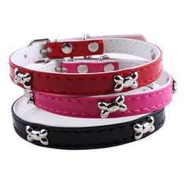 Wholesale Dog Bell Wholesale - Dog Collar Mini Bone Dog Leash Necklace Collar Dog Training Collar Pet Supplies Drop Shipping