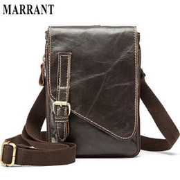 Wholesale Sports Cell Phone Covers - Wholesale-Hot Sale 100% Cowhide Men's Waist Bag Casual Outdoor Sports Pack Genuine Leather Travel Man Small Money Belt Messenger Men