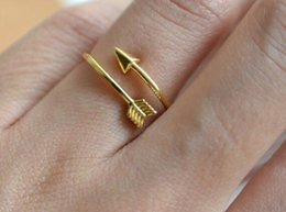 Wholesale Pinks One Direction - 2016 Vintage Bijoux Femme One Direction Tiny Arrow Wrap Rings Pink Gold Plated Knuckle Midi Ring Women Men Jewelry Wedding Gift